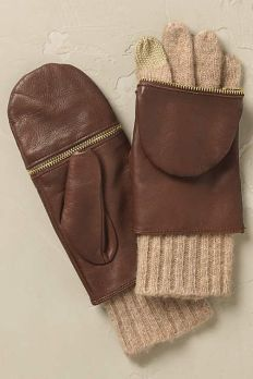 Cara Leather Mitten Gloves
