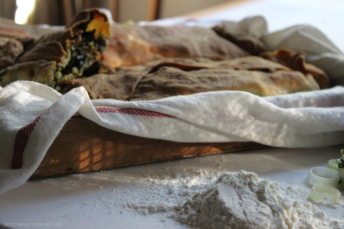 perfect rustic spinach pie -Greek grandma's recipe!