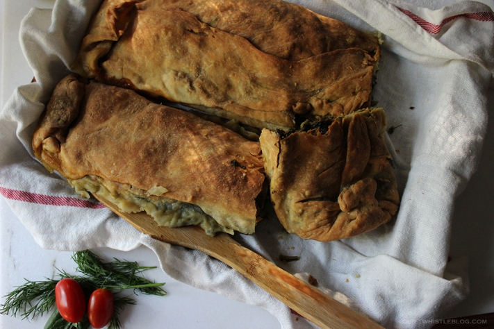 perfect rustic spinach pie -Greek grandma's recipe!