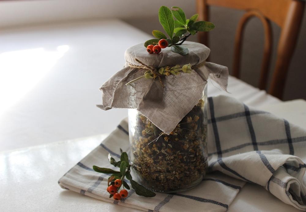 Homemade herbal bath teas